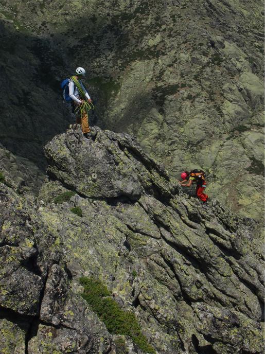 Curso escalada de crestas en España